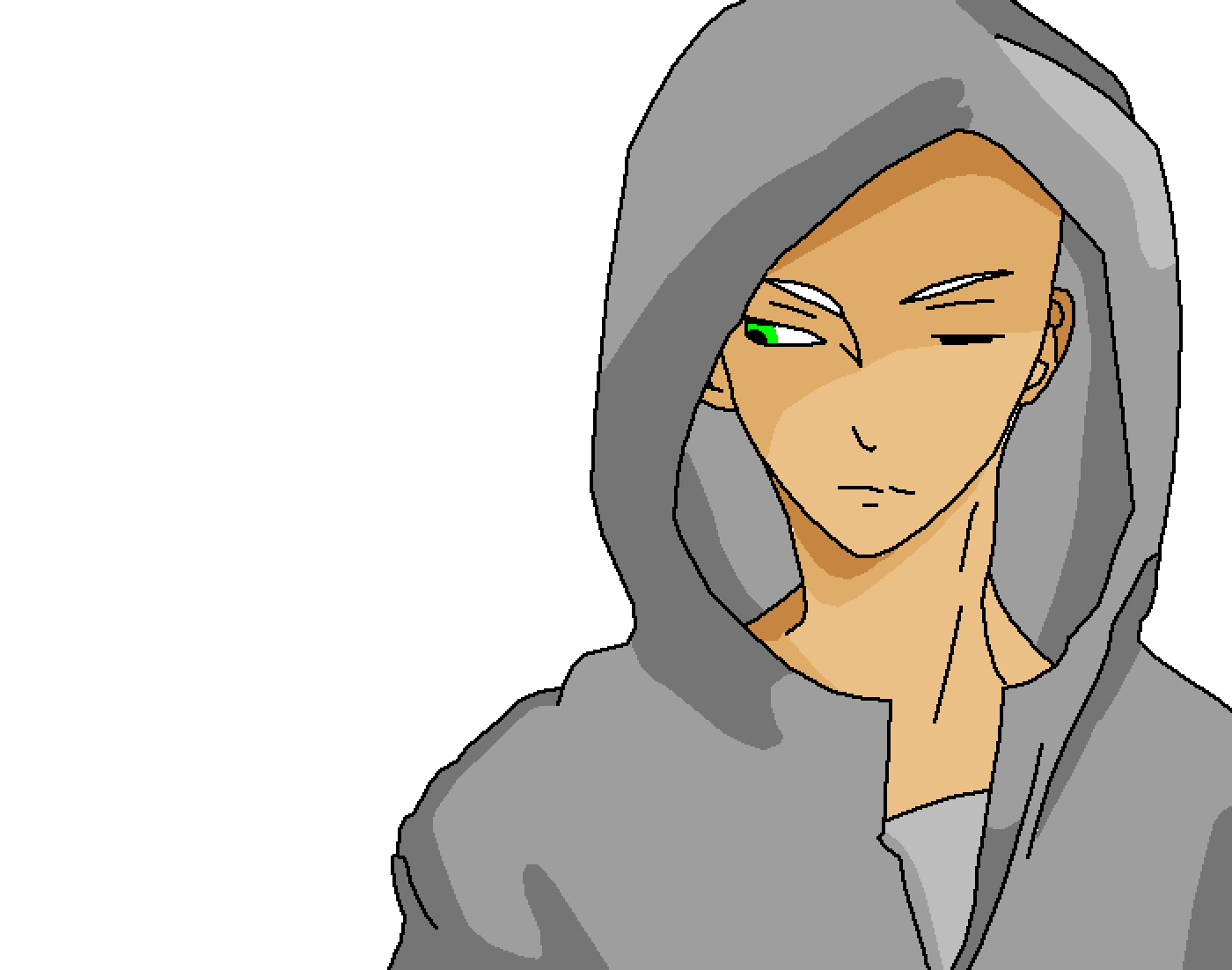Hooded drawing boy. Pixilart base by booshblast