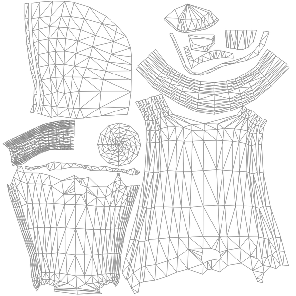 Hooded drawing cloak. Roblox uv maps on