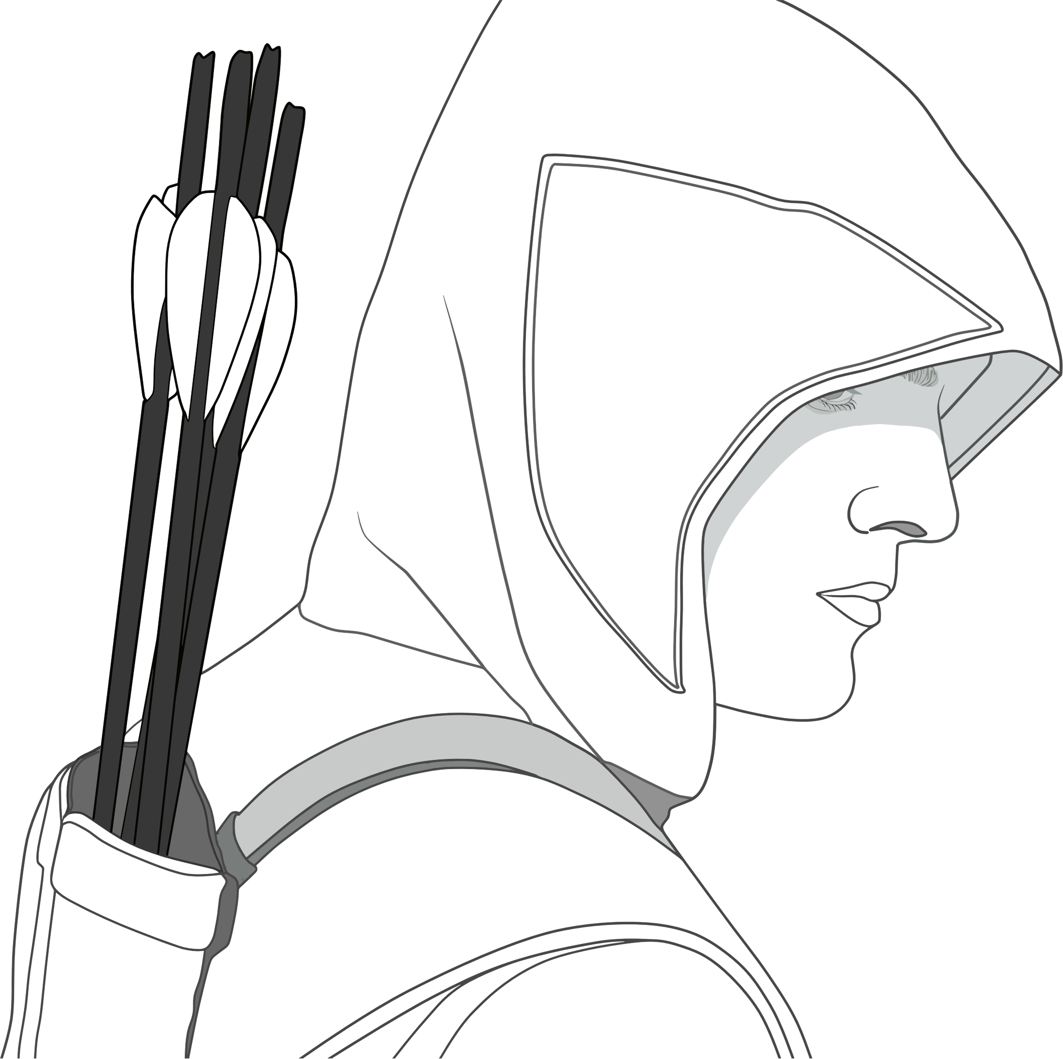 Hooded drawing cloak. Collection of assassin