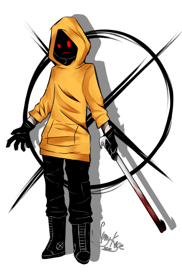 Hooded drawing creepy. This i m seriosuly