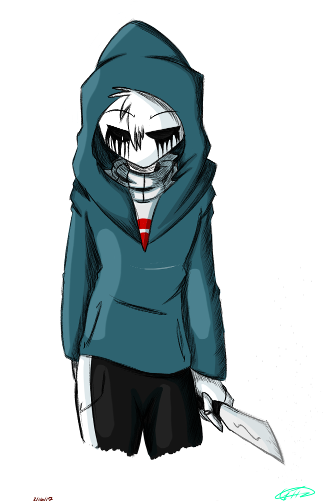Hooded drawing killer. Sans by maricela on