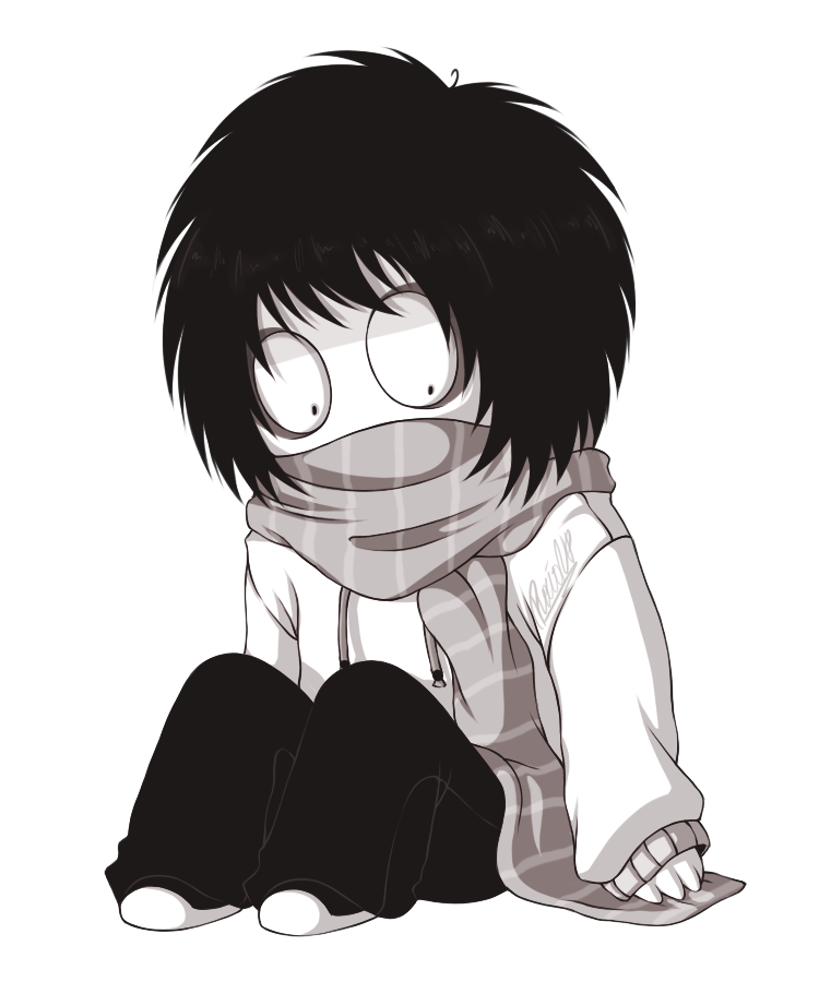 Hooded drawing killer. Jeff the chibi by