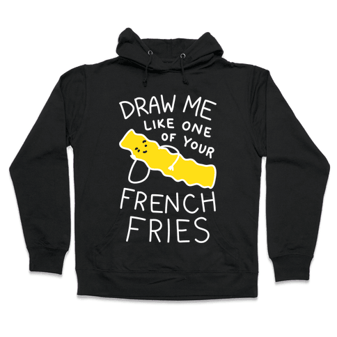 Hooded drawing monster. Silly sweatshirts lookhuman draw