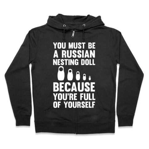Hooded drawing power. Russian nesting doll sweatshirts