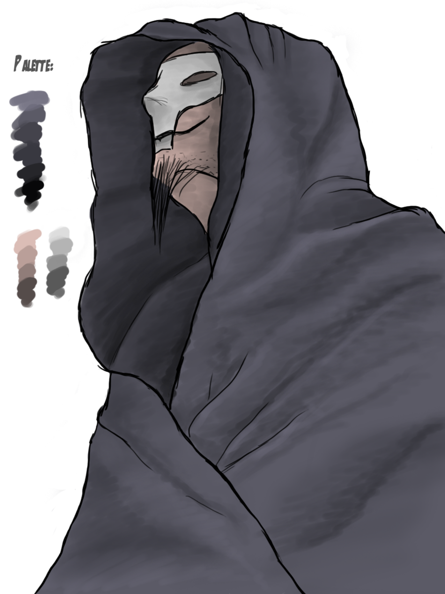 Rebel drawing hooded. Death monk by afterfield