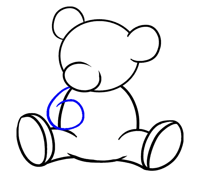 Hooded drawing simple. Bears step by at