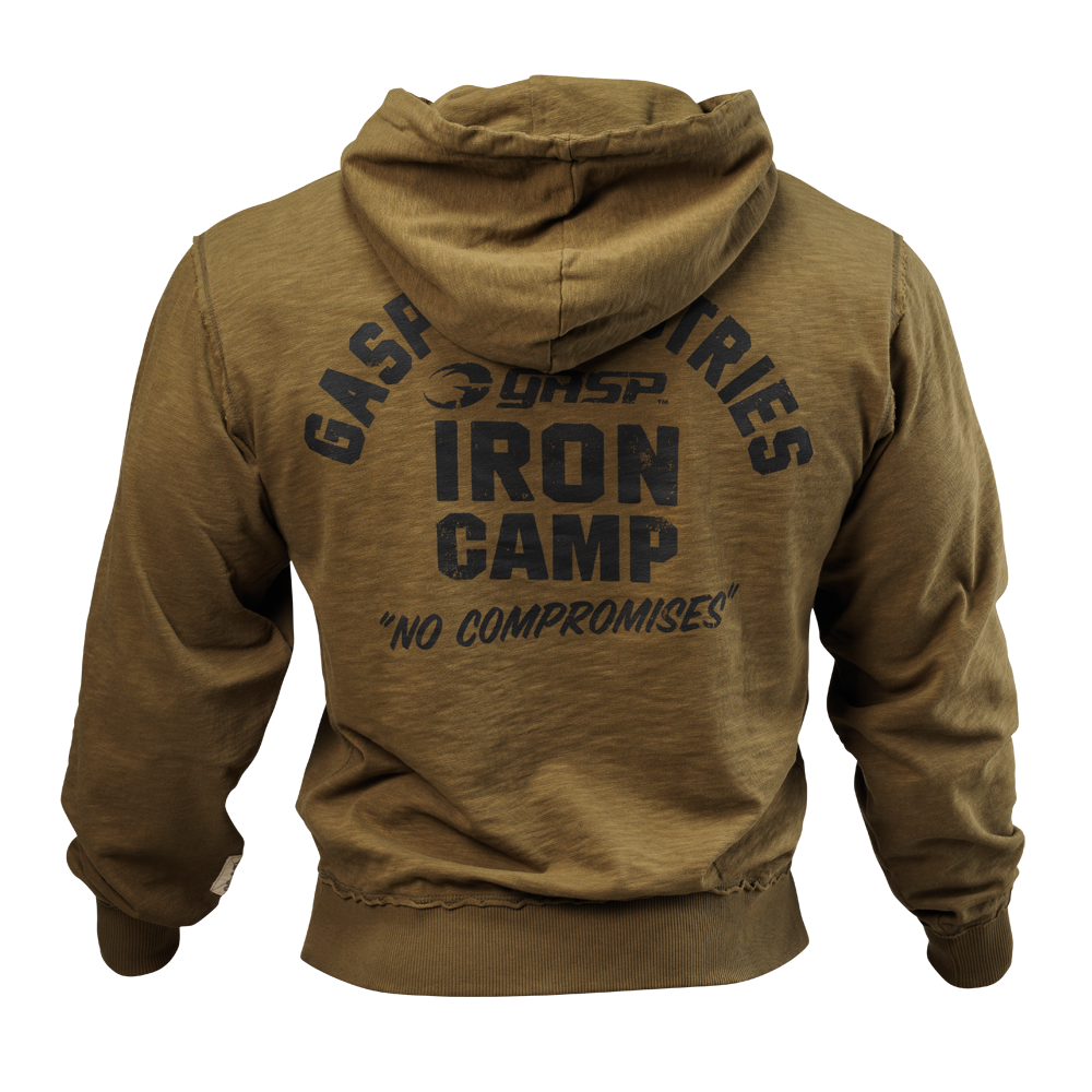 Hoodie back png. Throwback military olive gasp
