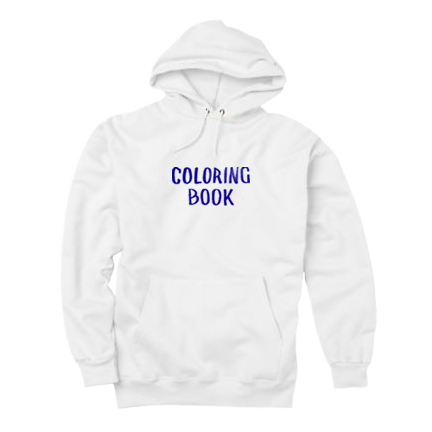 Hoodie transparent chance 3. Coloring book white the