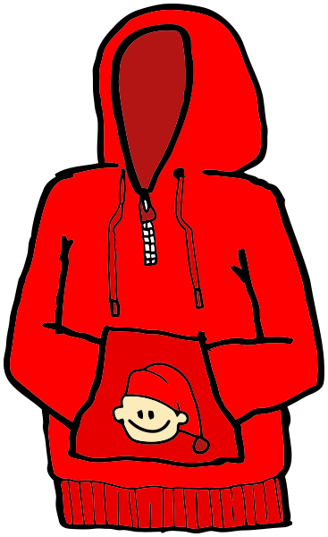 Peachy red clipartxtras cilpart. Hoodie clipart cartoon hoodie svg freeuse stock