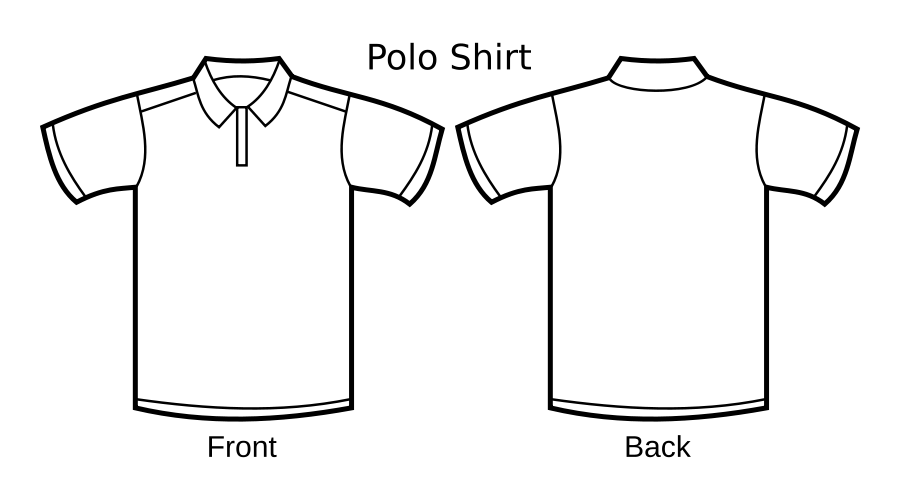 Jersey vector front back. Free polo shirt template