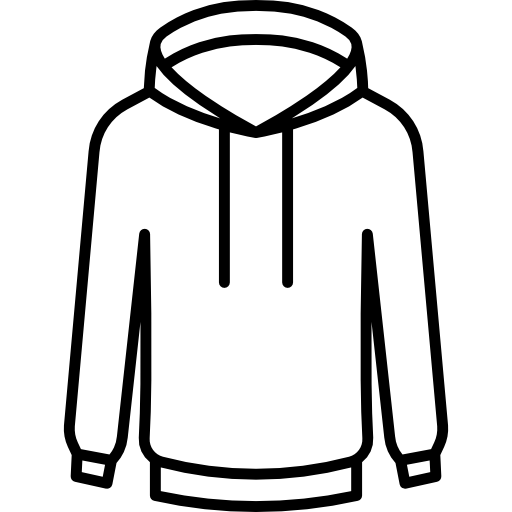 Hoodie outline png. Sweatshirt clothes style fashion