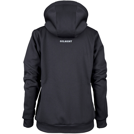Hoodie transparent black back. Gilbert rugby store pro