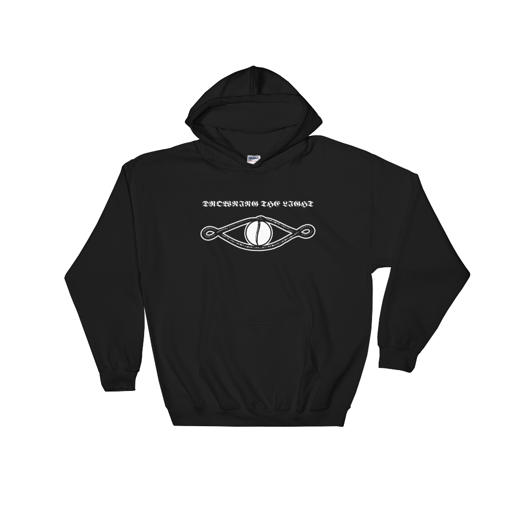 Hoodie transparent black back. Drowning the light tenth