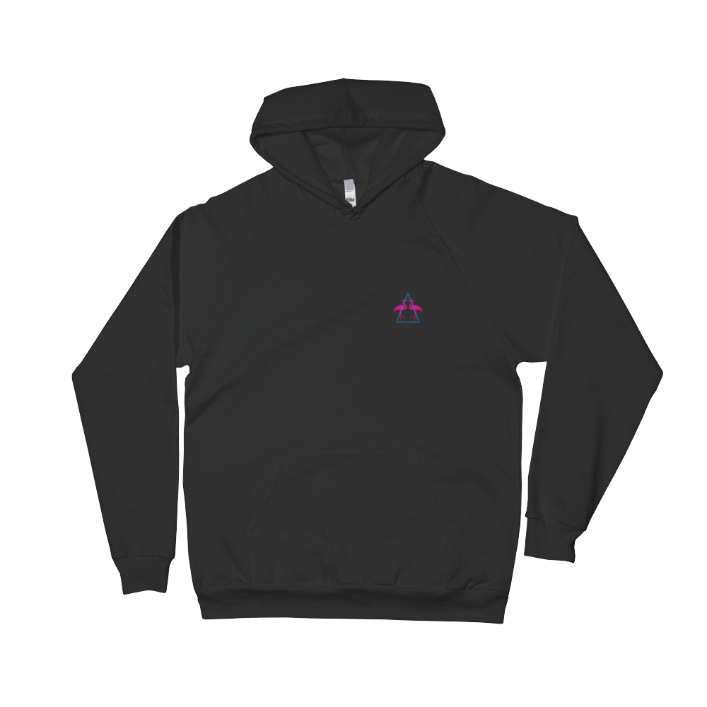 Hoodie transparent black back. The dream classic print