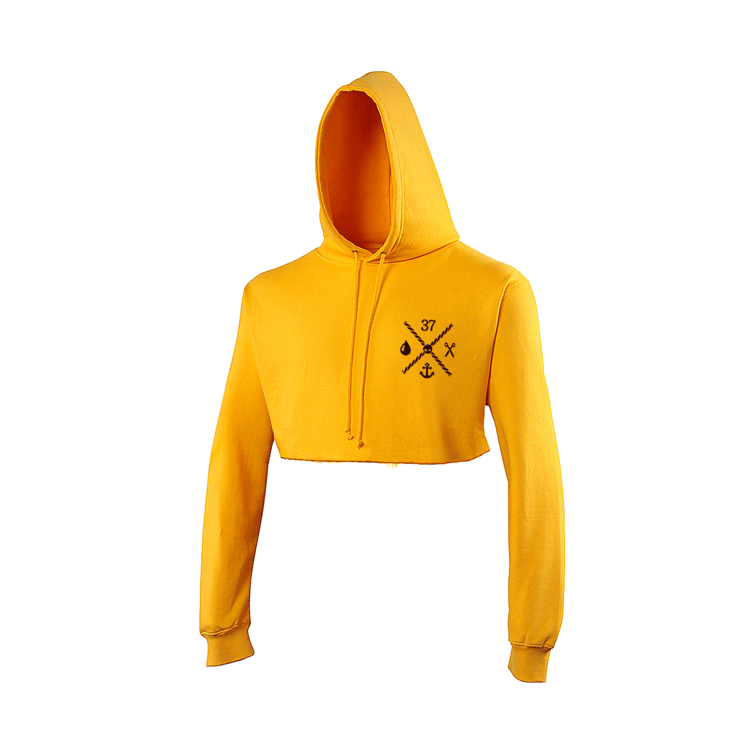 Hoodie transparent cropped. The quarter masters honey