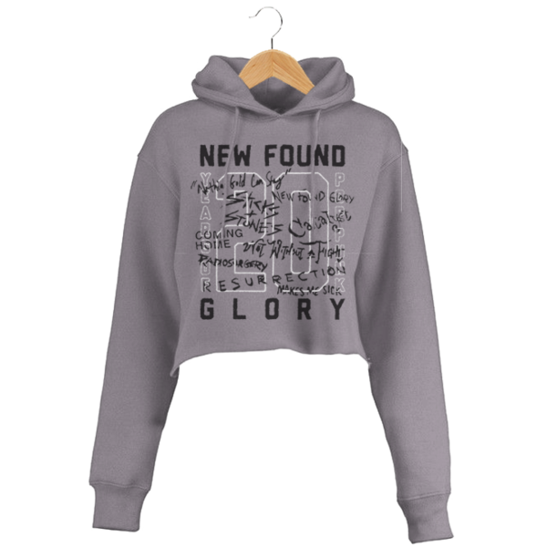Hoodie transparent cropped. Scribble new found glory