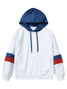 Hoodie transparent oversized. Drawstring color block