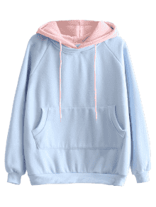 Hoodie transparent oversized. Drawstring two tone
