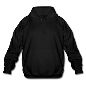Hoodie transparent plain black. Larger photo email a