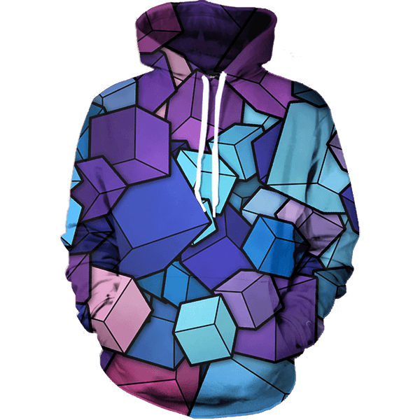 hoodie transparent purple