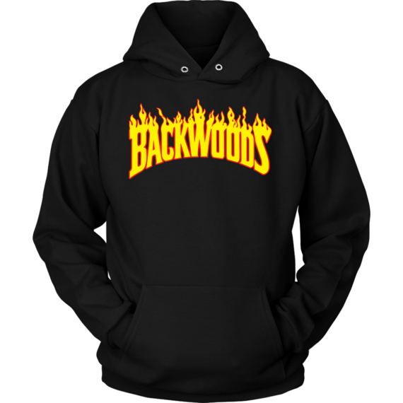 Hoodie transparent thrasher. Backwoods x in color
