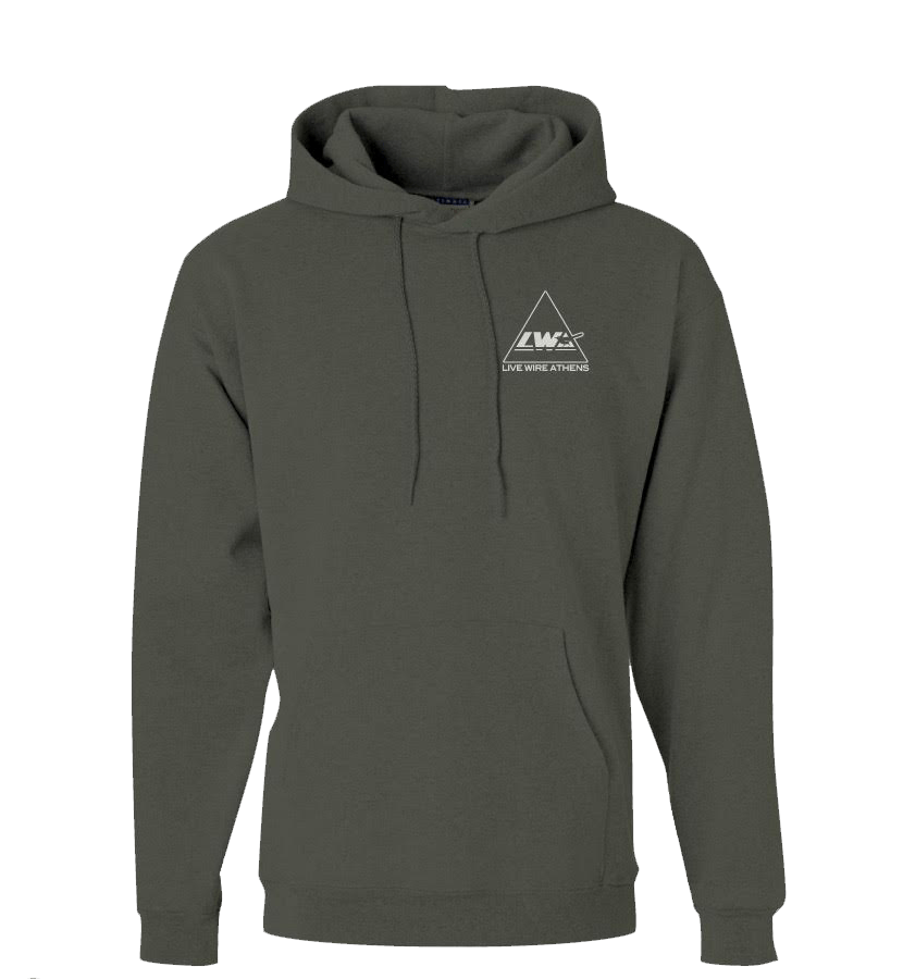 Hoodie transparent thrasher. Military green live wire