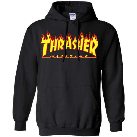Hoodie transparent thrasher. Popular and trending stickers