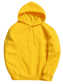 Hoodie transparent yellow. Pocket fleece in