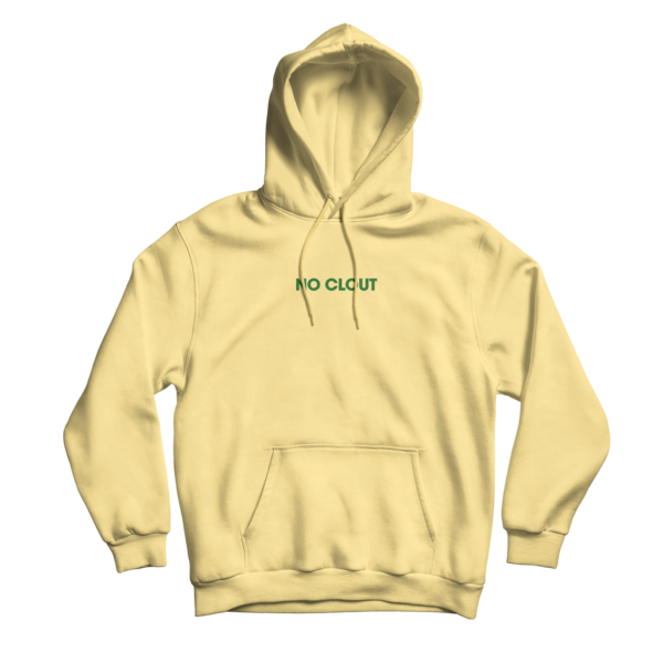 Hoodie transparent yellow. No clout pigment