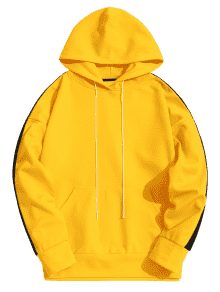 Hoodie transparent yellow. Off kangaroo pocket