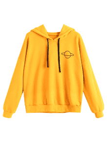 Hoodie transparent yellow. Off zaful drawstring