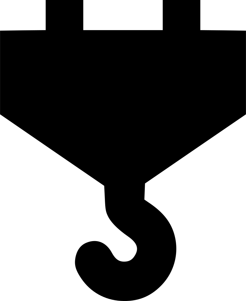 Hook clipart crane hook. Svg png icon free