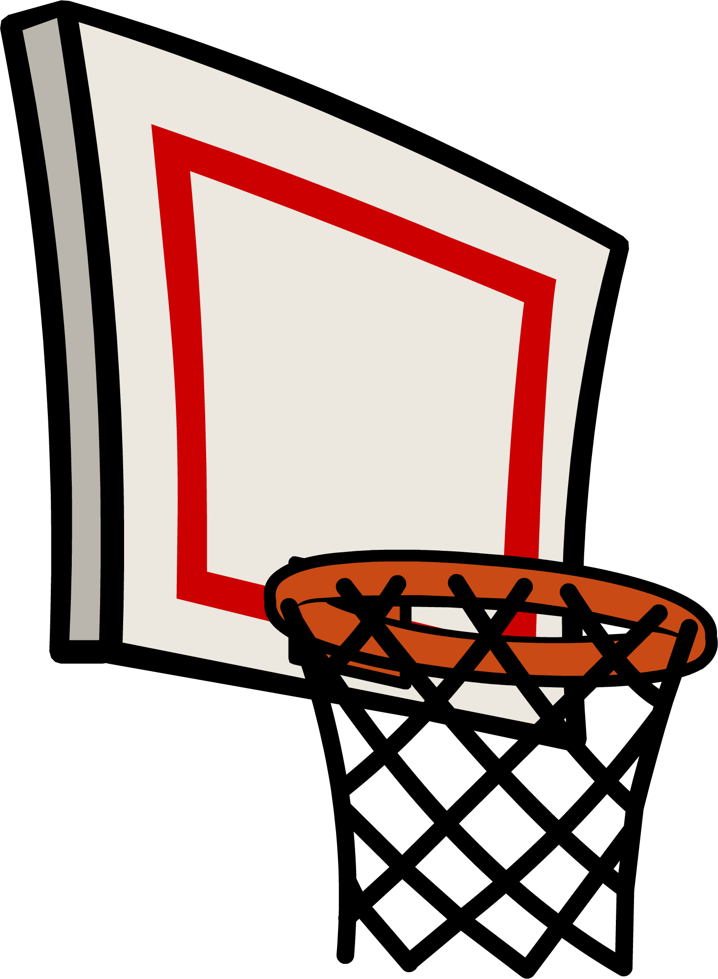Hoop clipart. Red basketball clip art