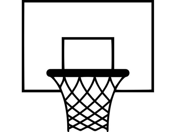 Hoop clipart baskeball. Basketball goal backboard rim