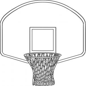 Hoop clipart baskeball. Basketball black and white