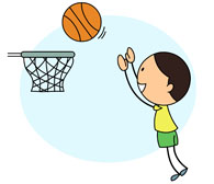Hoop clipart basketball shoot. Sports free to download