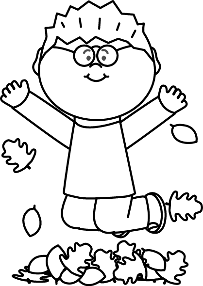 Hopping black and white. Jump clipart leaf pile clip art free download