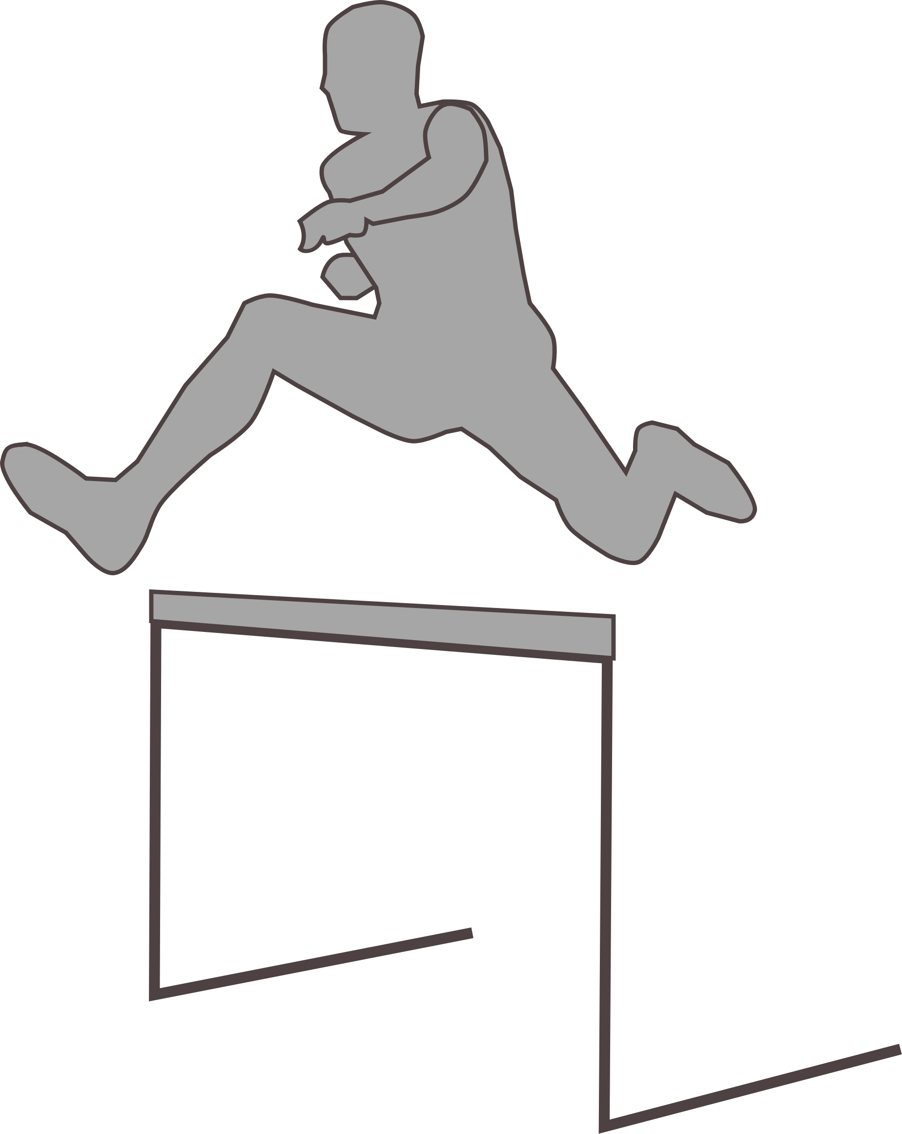 Racing clipart obstacle race. Hurdling silhouette big image