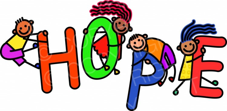 Hope clipart. Kids toddler title text