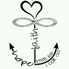 Hope clipart artistic. Faith love anchor
