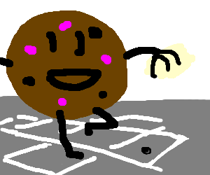Hopscotch drawing clipart. A chocolate and raspberry