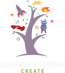 Hopscotch drawing game. Sketch nation create education