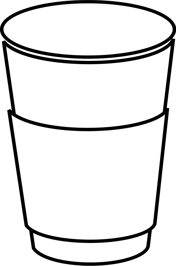 Coffee cup clipart vector. Free picture of a
