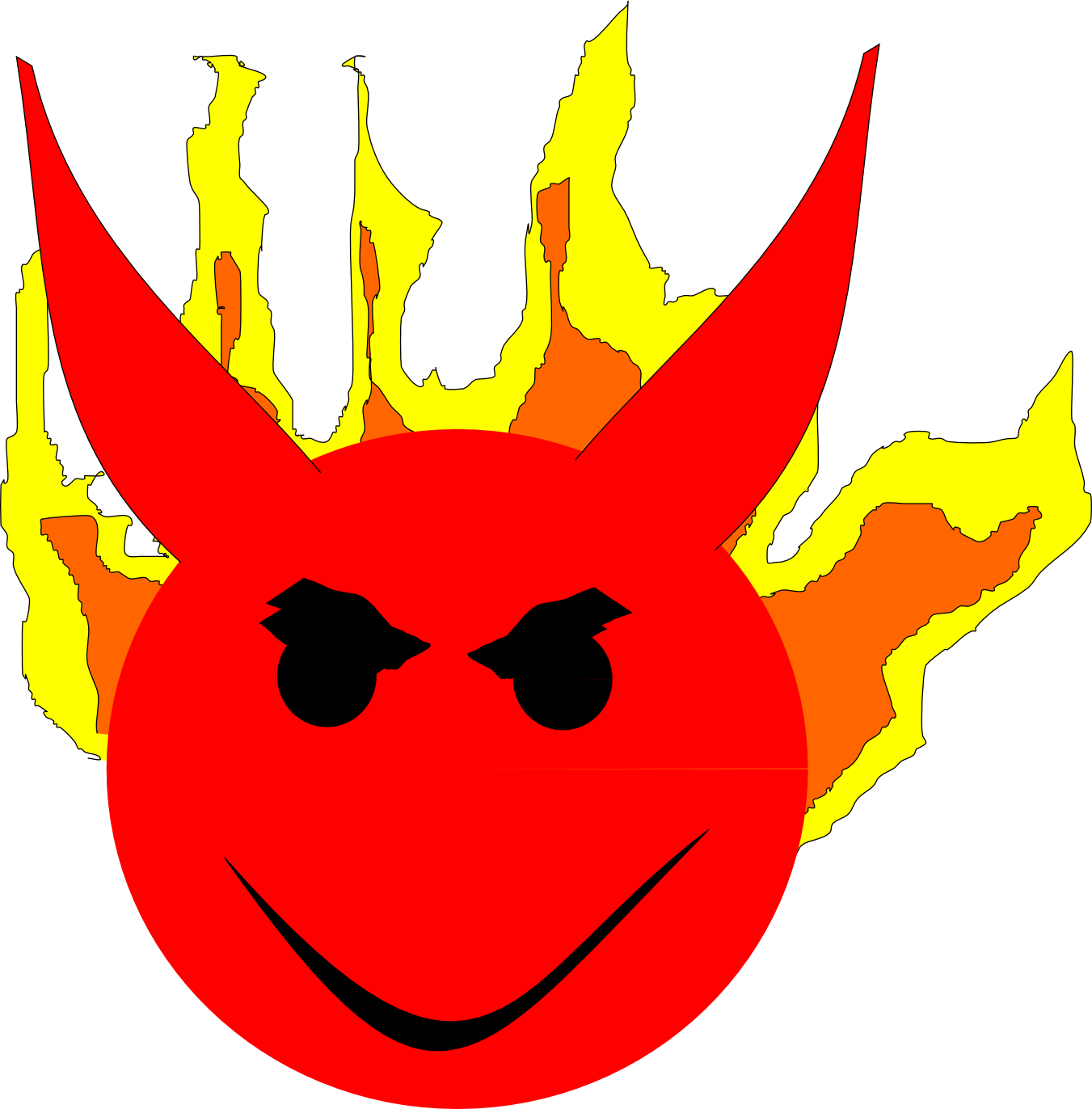 Horn clipart devilish. Free smiley face download