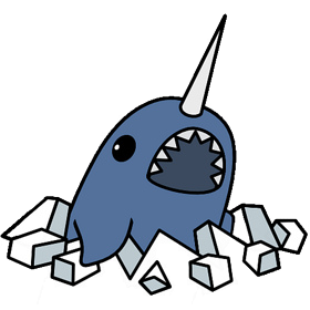Narwhal svg blue. Narwhals vs uniwhales the