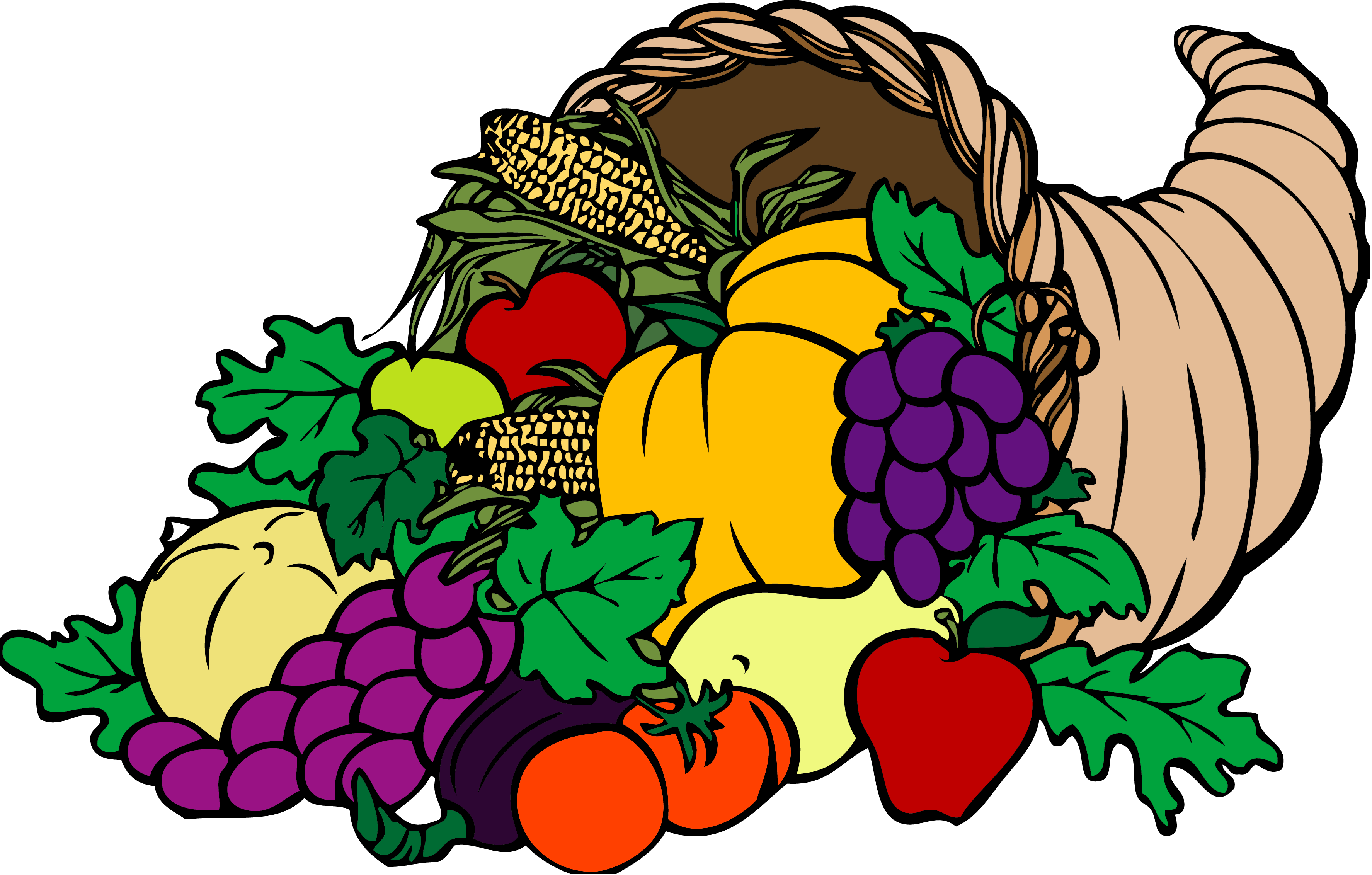 Horn of plenty png. Collection thanksgiving clipart