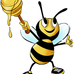 Tired clipart bee. Bees hexagon