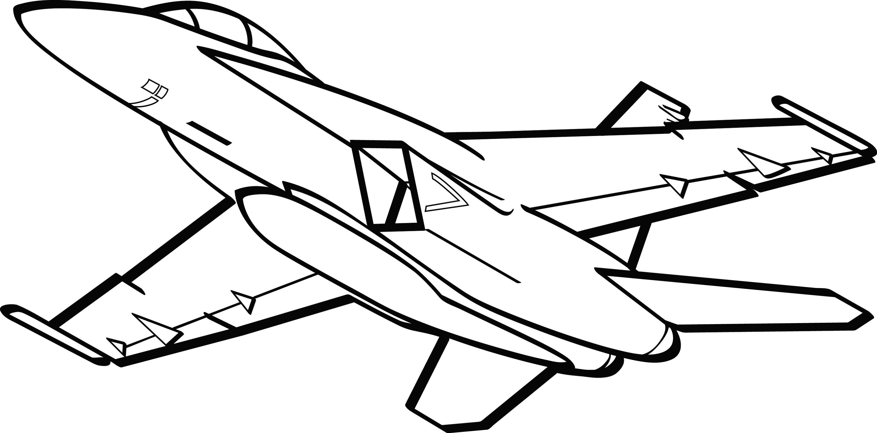 jet clipart drawing