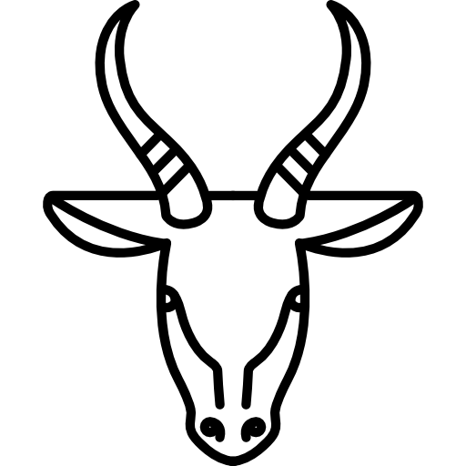 Horns vector gazelle. Icons free download demo