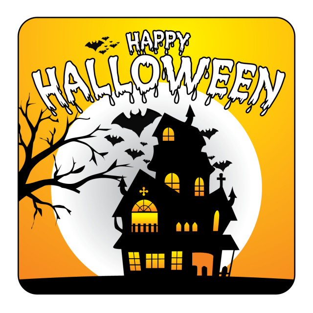 Horror vector elements. Halloween party background illustration